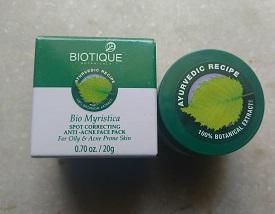 IMG 20170430 113215989 Biotique Bio Myristica Spot Correcting Face Pack