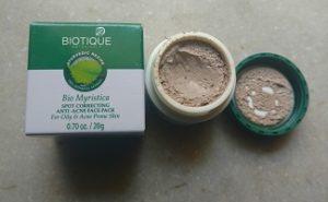 IMG 20170430 113244000 300x185 Biotique Bio Myristica Spot Correcting Face Pack
