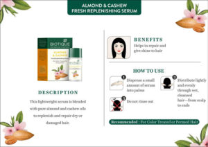 1550228583 img3 300x212 Biotique Almond Cashew Fresh Replenishing Serum Review