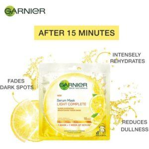 550888 3 300x300 Garnier Naturals Light Complete Serum Mask Review