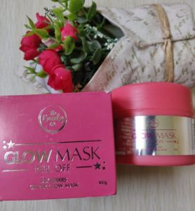 Glow mask2 278x300 The Beauty Co. Glow Mask Peel Off Review