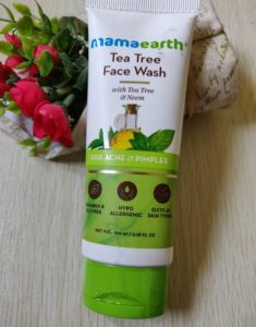 Tea tree face wash2 235x300 Mama Earth Tea Tree Face Wash Review